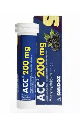 ACC 200 mg tablets For liquefying viscous mucus in the airways 20 tablets