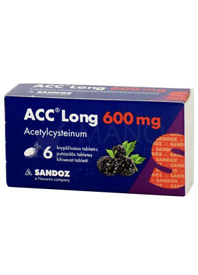 ACC Long 600mg Bronchial and Lung Diseases 6 Dissolving Tablets