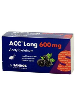 ACC Long 600,chronick bronchitis,Lung abscess Bronchiolitis Tracheitis 10 Tablet