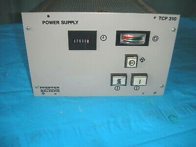 Pfeiffer Tcp 310 Turbomolecular  Vacuum Pump Controller Power Supply