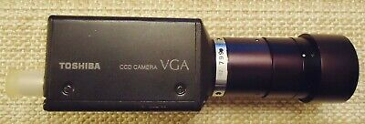 TOSHIBA CCD CAMERA, MODEL# IK-542F, DC: 12V-----290mA. MADE IN JAPAN. WITH LENS