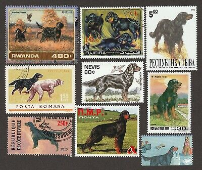 GORDON SETTER ** Int'l Postage Stamp Art Collection ** Great Gift Idea **
