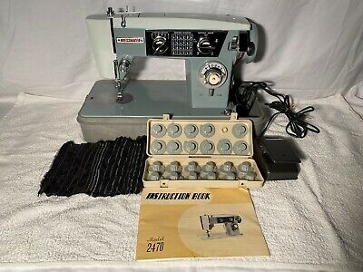 Vintage Dressmaker Sewing Machine Model 2470 Zigzag Pattern Cams Discs SERVICED