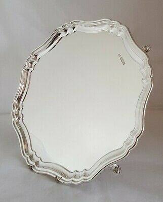 Antique sterling silver Tray / Salver . Sheffield 1929. By Stevenson & Law
