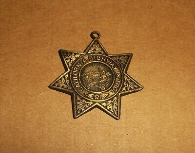"""California Highway Patrol CHP Logo Premier Crystal 3/"""" Ornament Made in the USA"""