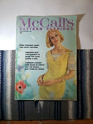 Vintage Spring/Summer 1964 McCall's Pattern Fashion Book Magazine Sewing s1