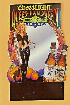 Coors Light Jenny McCarthy 1997 Queen of Halloween Table Tent