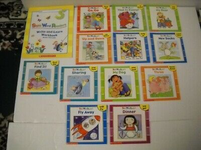 Scholastic Sight Word Readers Set #13-#24 & Write-And-Learn Workbook Set Nice!