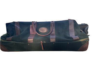 Orvis Battenkill Rolling Magnum Duffle Case 2 Section Hard Bottom Green 35""