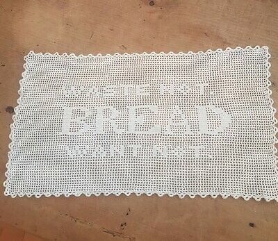 Superb Vintage Cream Crochet Table Centre doily - WORDS.WASTE NOT.BREAD WANT NOT