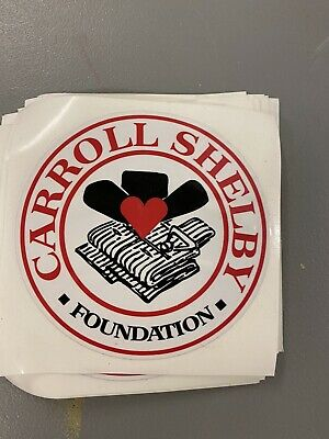 Carroll Shelby Foundation Decal Vintage 2012