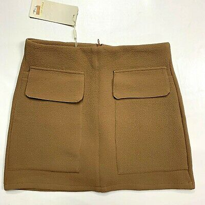 NWT Page One brand skirt tan front pockets women's large