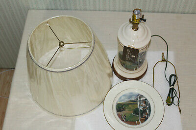 NOS Vintage Original John Deere Dinner Time Table Lamp And Collector Plate 1993