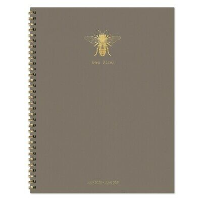 July 2020 - June 2021 Bee Kind Large Daily Weekly Monthly Spiral Planner