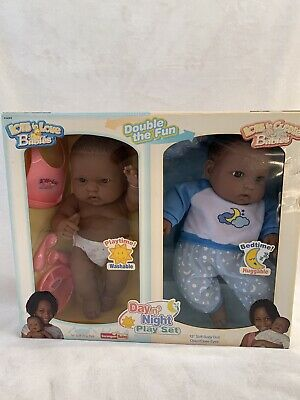 2005 Berenguer Lots To Love Day n' Night Play Set African American Dolls NIB