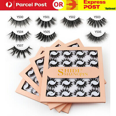 5 Pairs Mink Natural Thick 3D False Fake Eyelashes Eye Lashes Makeup Extension