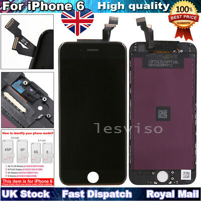 For iPhone 6 LCD Screen Replacement Touch Screen Digitizer Display Black UK