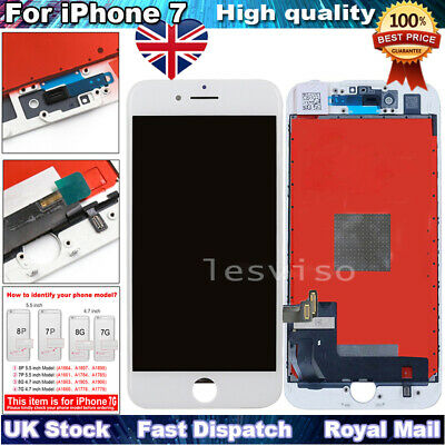 For iPhone 7 LCD Screen Replacement 3D Touch Screen Digitizer Display White UK