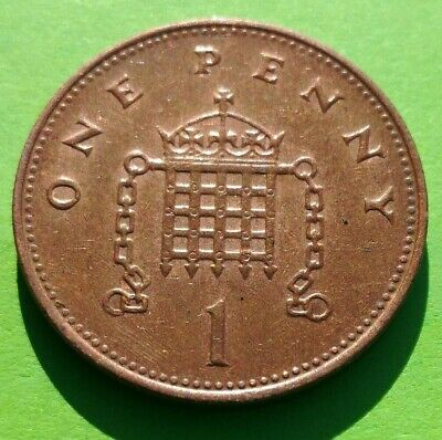 1 Penny (1P) Coins, Circulated Condition, 1971 - 1999 UK Decimal
