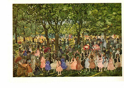 May Day, Central Park C. 1901 Art by Maurice Prendergast Reprod. Postcard