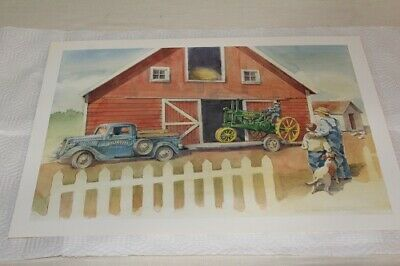 Two Cylinder Club John Deere G Print By Laut Elrod 252 - 400 MINT Condition 1990