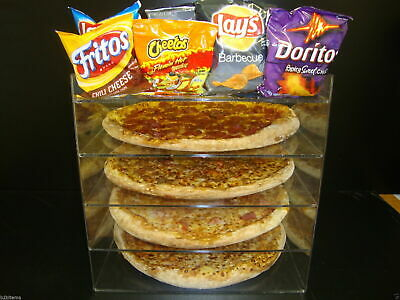 "305Displays 14"" Pizza Showcase Retail Store Acrylic Display Cases"