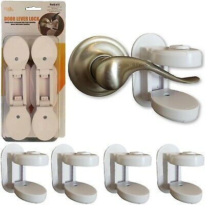 Baby Proofing Door Lever Locks I Door Handle Child Safety Lock - (Pack of 4)