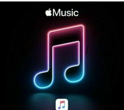 Apple Music Four (4) Months Free Individual Access Code, New Subscribers Only