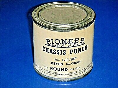 """Vintage Pioneer CRK117 Chassis Knockout Punch -Keyed Round  -1 11/64"""" Sealed Can"""