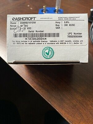 Ashcroft CXLdp Differential Pressure Transmitter CX3MB21010IW