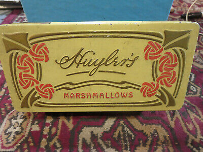 Antique Art Deco Huylers Marshmallow Tin EXCELENT condition