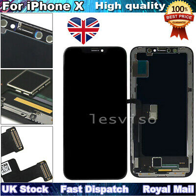 For iPhone X LCD Screen Replacement Touch Screen Digitizer Display Black UK