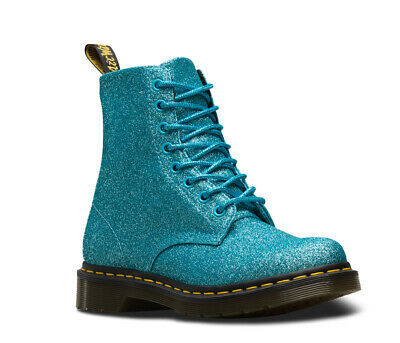 Details about Dr.Martens 1460 PASCAL GLITTER TURQUOISE Boots! UK4! New! Only £109,90!!!