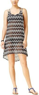 Miken Women/'s Crochet Chevron V-Neck Dress Swim Cover-Up