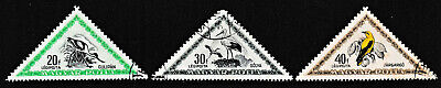 1952 Hungary Triangle 'Birds of Prey' Series Stamps set of 3 - Used / Fine