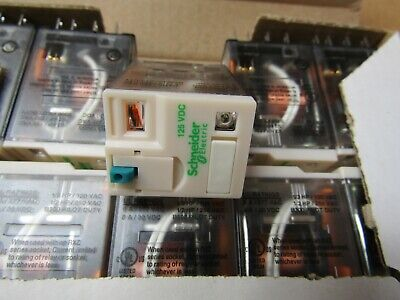 10 x Schneider 4PDT RXM 14 pin Non Latching Relay 125Vdc Coil 6A S3 8497871