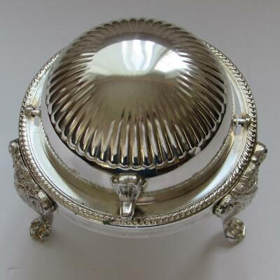 Vintage LEONARD Silver Plated Domed Footed Butter Server W/Dish (EUC)