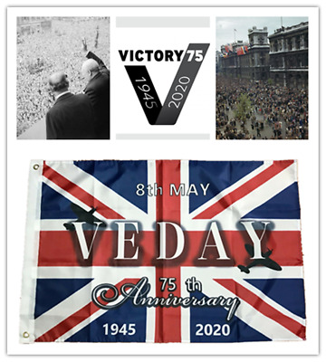 2020 VE Day 75th Anniversary Celebration Decorations 8th May Union Jack flag WW2