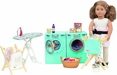 """Our Generation Tumble and Spin Washer Dryer Laundry Set for 18"""" Dolls New"""
