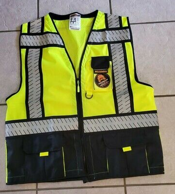 Kwiksafety Class 2 Visibility Safety Vest Reflective Large Mens