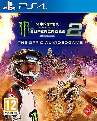 Monster Energy Supercross 2 Ps4 Nuovo Sigillato Pal Italiano Sony Playstation 4