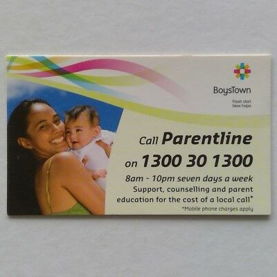 Boystown Parentline 1300301300 Business Card