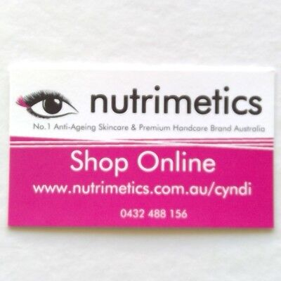 Nutrimetics Shop Online Cyndi 0432488156 Business Card