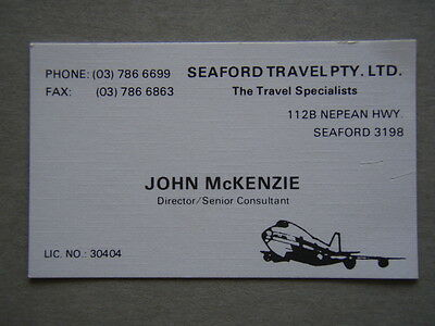 Seaford Travel John McKenzie Business Card