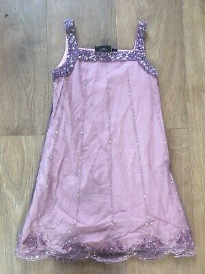 Stunning Girls Beaded Party Dress Age 5-6 Years NEXT SIGNATURE Wedding Party N7