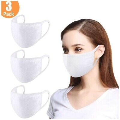 Face Mask Antimicrobial Premium Cotton, Two Layers with POCKET FILTER, Pack of 3