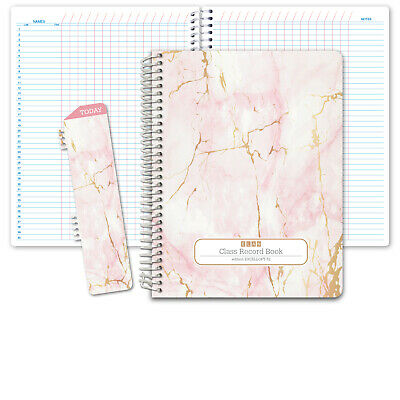HARDCOVER Class Record Book Unstructured (Excello - Pink Marble)