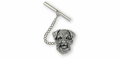 Border Terrier Jewelry Sterling Silver Handmade Border Terrier Tie Tack  BDT-TT