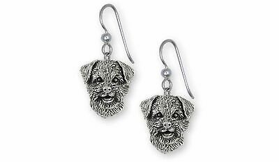 Border Terrier Jewelry Sterling Silver Handmade Border Terrier Earrings  BDT-E