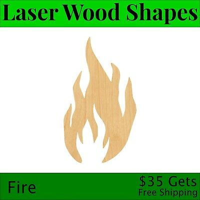 Camp fire Cut Out Beach Laser Cut Out Wood Campfire Wood Shape Craft Supply
